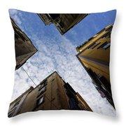 Skyward In Naples Italy - Spanish Quarters Take Three Throw Pillow