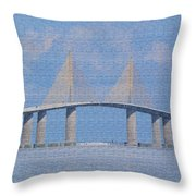 Skyway Bridge Throw Pillow