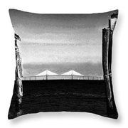 Skyway Day Throw Pillow by David Lee Thompson
