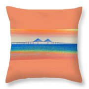 Skyway Morning Throw Pillow by David Lee Thompson