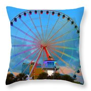 Skywheel Throw Pillow