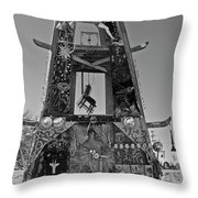 Slab City Museum Tower Bw Throw Pillow