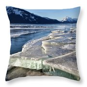 Slabs Of Ice Throw Pillow