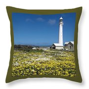 Slangkop Lighthouse, Kommetjie  Throw Pillow