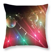 Slap Happy Christmas Lites Throw Pillow