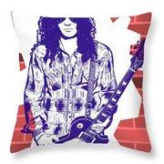Slash Graffiti Tribute Throw Pillow