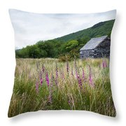 Slate Cabin In Wales Throw Pillow