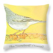 Slate Colored Junco The  Throw Pillow