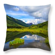 Slate River At Crested Butte Colorado Throw Pillow
