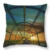 Slauson Sunset Throw Pillow