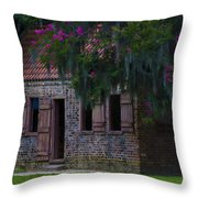 Slave Quarters Throw Pillow