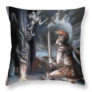 Slay The Gorgon Throw Pillow
