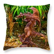 Slaying Dragons Throw Pillow
