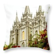 Slc Temple Angle Throw Pillow by La Rae  Roberts