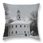 Sledding Throw Pillow