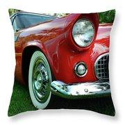 Sleek Red Throw Pillow