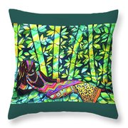 Sleep To Dream Silkpainting Belize Throw Pillow