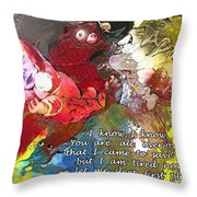 Sleepig Messiah Throw Pillow