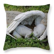 Sleeping Angel Throw Pillow