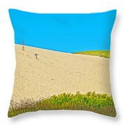 Sleeping Bear Dune Climb In Sleeping Bear Dunes National Lakeshore-michigan Throw Pillow