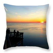 Sleeping Bear Sunset 02 Throw Pillow