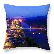 Sleeping City Throw Pillow