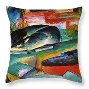 Sleeping Deer 1913 Throw Pillow