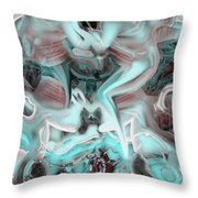 Sleeping In My Space Ship Throw Pillow