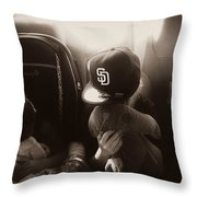 Sleeping Kids Throw Pillow
