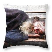 Sleeping Wizard Throw Pillow