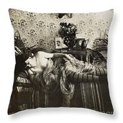 Sleeping Woman, C1900 Throw Pillow