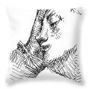 Sleeping Woman Throw Pillow