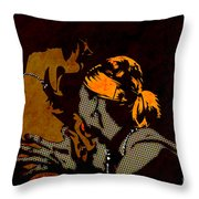 Sleepless I Throw Pillow by Sandra Hoefer