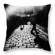 Sleepwalking Throw Pillow by Andrew Paranavitana