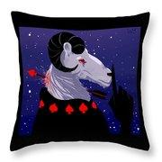 Sleepy Devil Throw Pillow