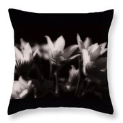 Sleepy Flowers Throw Pillow