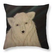 Sleepy Head Throw Pillow by Ginny Youngblood