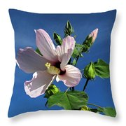 Sleepy Hibiscus Throw Pillow