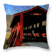 Sleepy Hollow Bridge Throw Pillow