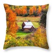 Sleepy Hollow Farm In Fall Throw Pillow