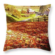 Sleepy Hollow - Pomfret Vermont-1 Throw Pillow