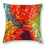 Sleeved Rubies Throw Pillow