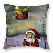 Sleigh Jacker Throw Pillow by Leah Saulnier The Painting Maniac
