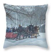 Sleigh Ride Throw Pillow