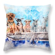 Slice Of Life Watercolor Throw Pillow by Michael Colgate