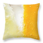 Slice Of Orange And Lemon In Cocktail Glass Throw Pillow