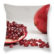 Sliced Pomegranate Throw Pillow