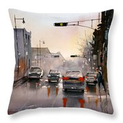 Slick Streets Throw Pillow
