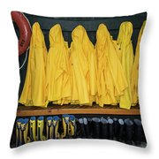 Slickers Throw Pillow