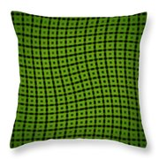 Slide In Green Throw Pillow